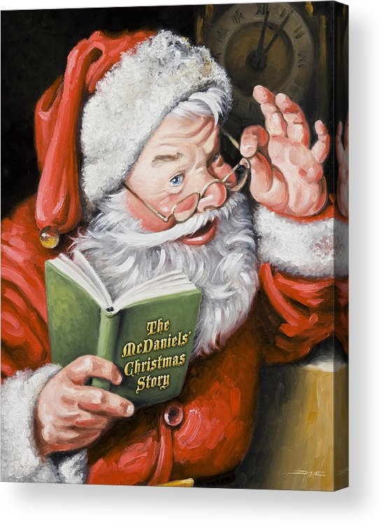 Santa Acrylic Print featuring the painting Personalized Santa Painting....instructions Are On Lower Right Side Of This Page. by Dixie Rogers