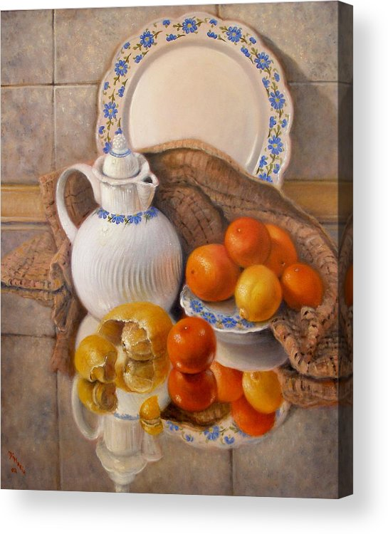 Realism Acrylic Print featuring the painting Reflections by Donelli DiMaria
