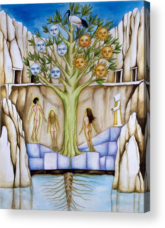 Resurrection Acrylic Print featuring the painting Resurrection Island by Rebecca Barham