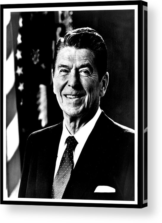 Ronald Acrylic Print featuring the photograph Ronald Reagan by Benjamin Yeager