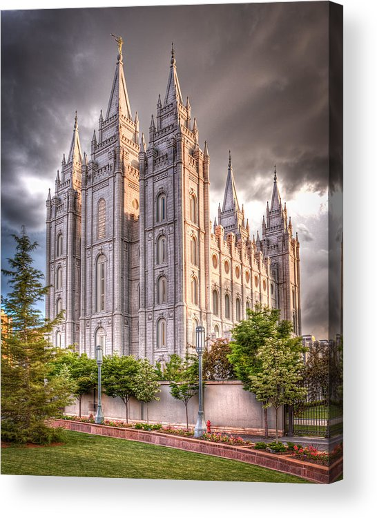 Temple Acrylic Print featuring the photograph Salt Lake Temple by Niels Nielsen