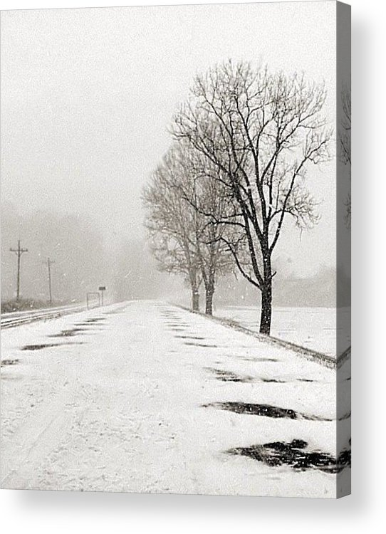 Black And White Photography Acrylic Print featuring the photograph Slow Going II by Julie Dant