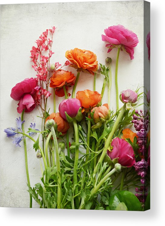 Spring Flowers Acrylic Print featuring the photograph Spring Joy by Lupen Grainne