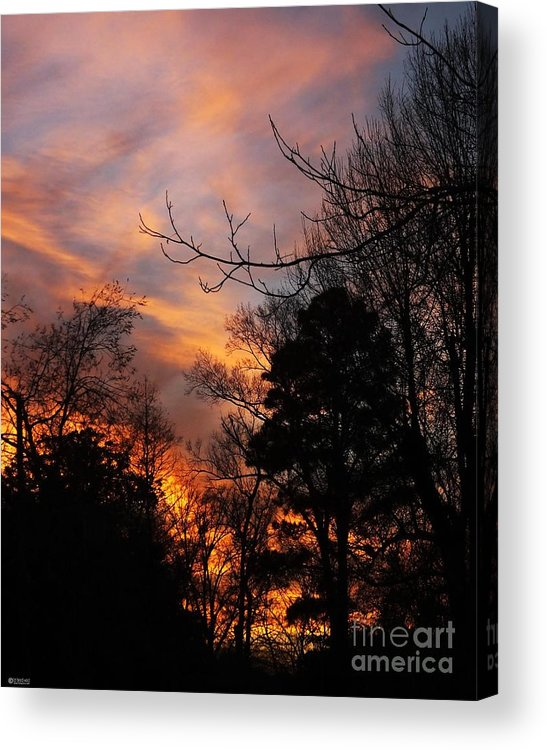 Sunset Acrylic Print featuring the photograph Sunset View From The Path by Lizi Beard-Ward