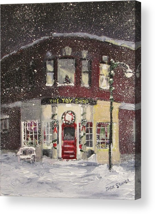 Christmas Acrylic Print featuring the painting The Toy Shop by Jack Skinner