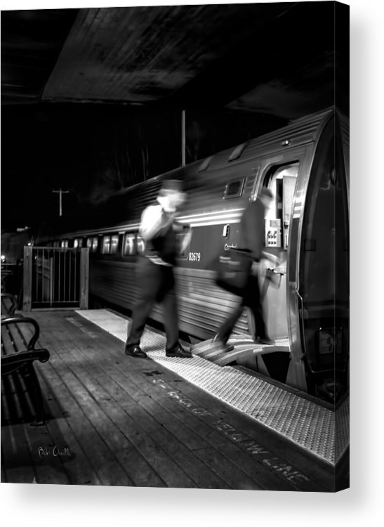 Trains Acrylic Print featuring the photograph The Train Conductor by Bob Orsillo