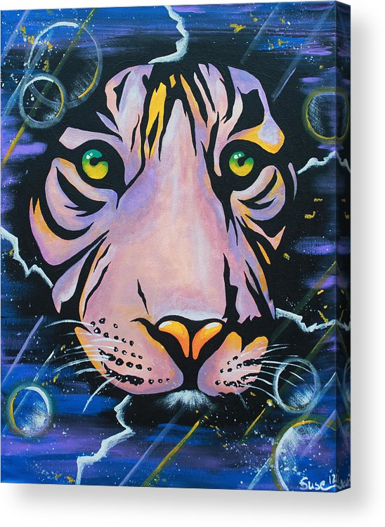 Tiger Acrylic Print featuring the painting Tiger by Susanne Fagan