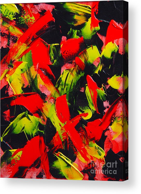 Abstract Acrylic Print featuring the painting Transitions IIi by Dean Triolo