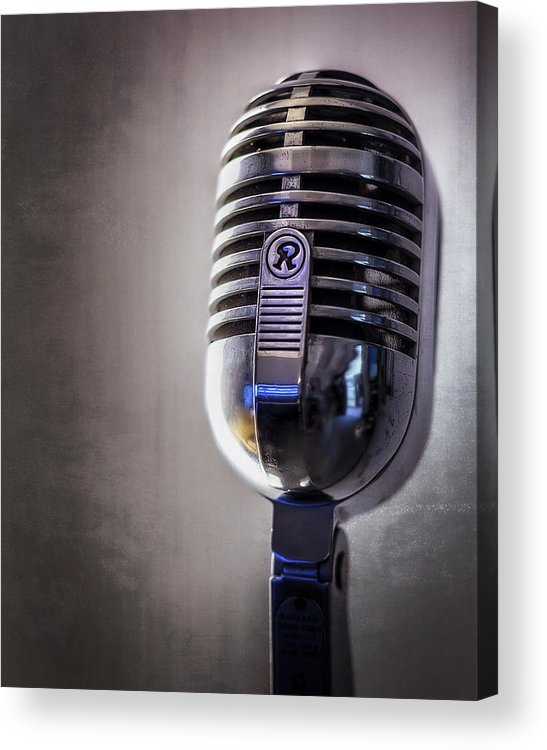 Mic Acrylic Print featuring the photograph Vintage Microphone 2 by Scott Norris
