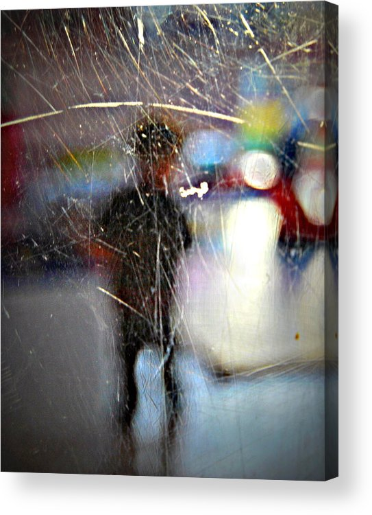 Acrylic Print featuring the photograph Waiting For My Mom by Riad Belhimer