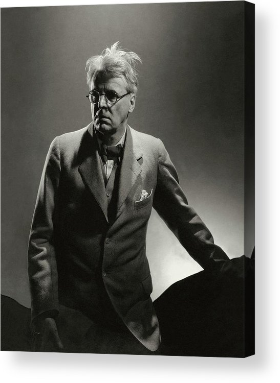 Literary Acrylic Print featuring the photograph William Butler Yeats Wearing A Three-piece Suit by Edward Steichen