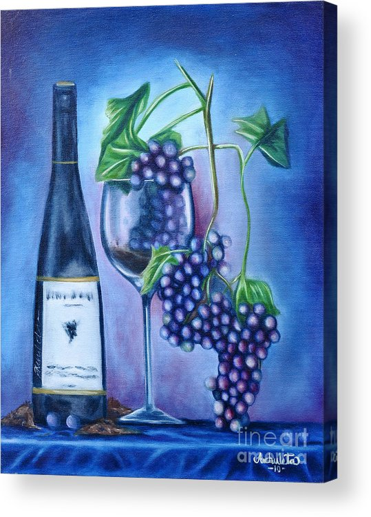 Wine Acrylic Print featuring the painting Wine Dance by Ruben Archuleta - Art Gallery