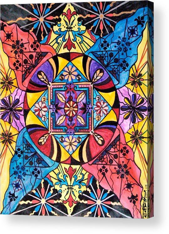 Worldly Abundance Acrylic Print featuring the painting Worldly Abundance by Teal Eye Print Store