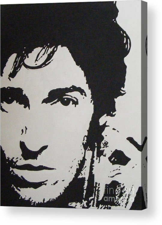 Bruce Springsteen Acrylic Print featuring the painting Young Boss by ID Goodall