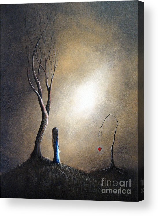 Surreal Acrylic Print featuring the painting Your Memory Lives On In Me By Shawna Erback by Erback Art