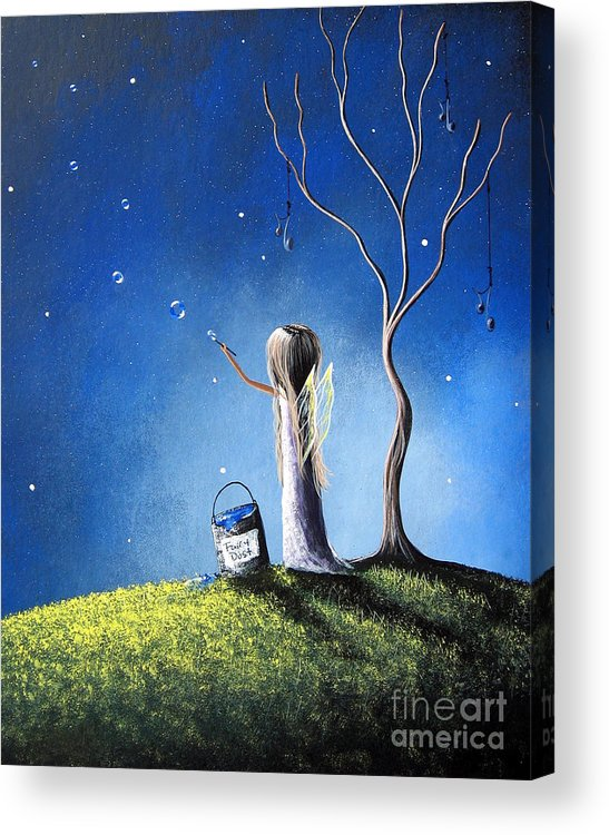 Fairies Acrylic Print featuring the painting Your Wish Comes True Tonight By Shawna Erback by Shawna Erback