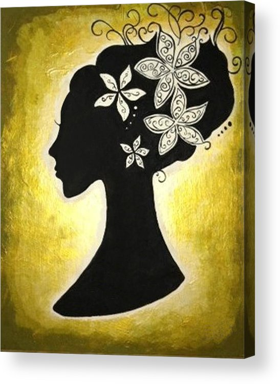 Silhouette Acrylic Print featuring the painting Bella Dama by Brandy Nicole Neal