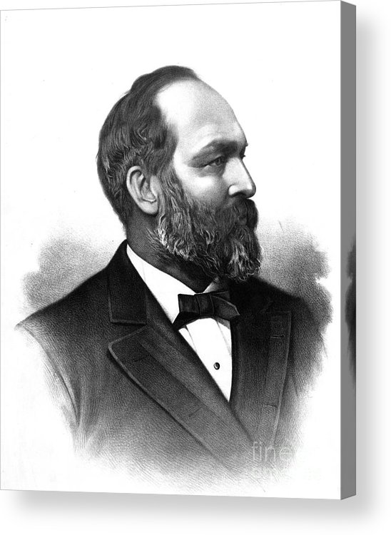 Government Acrylic Print featuring the photograph James A. Garfield, 20th American by Photo Researchers