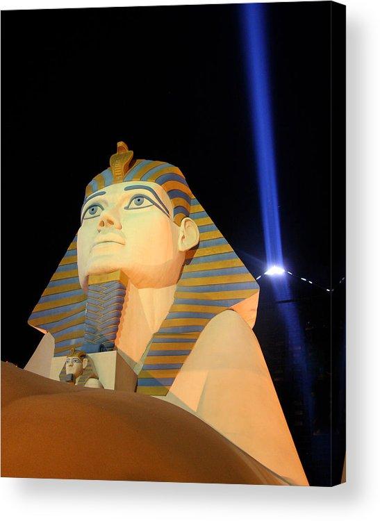 Las Vegas Acrylic Print featuring the photograph Luxor Sphinx by Joe Myeress