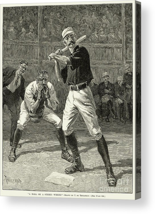 1888 Acrylic Print featuring the photograph Baseball, 1888 by Granger