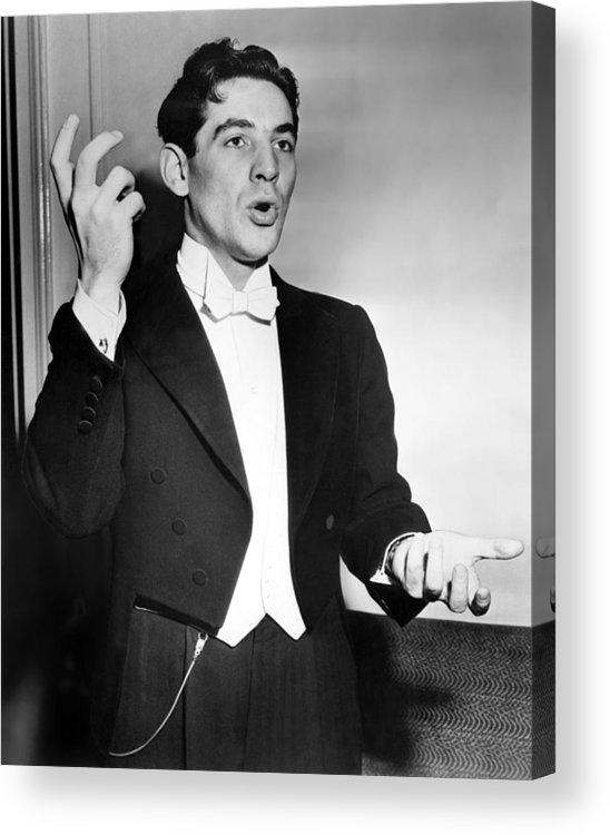 1950s Acrylic Print featuring the photograph Leonard Bernstein 1918-1990 American by Everett