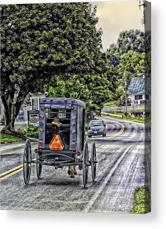 Country Road Acrylic Print featuring the photograph Amish Girl by Madeline Ellis