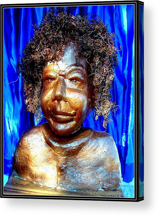 Sculptures Acrylic Print featuring the sculpture An Indian Saint Stya Sai Baba by Anand Swaroop Manchiraju