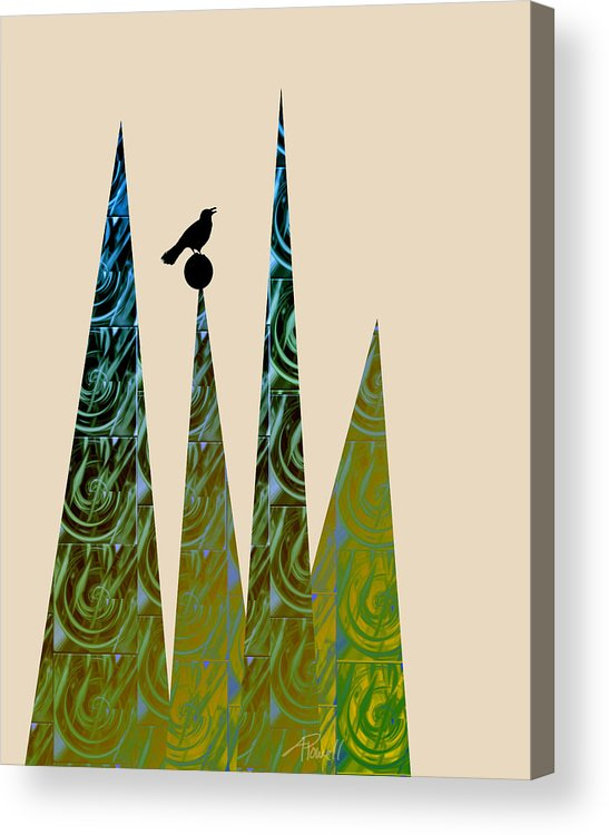 Abstract Acrylic Print featuring the digital art Aspire by Ann Powell