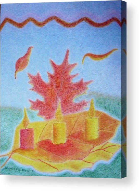 Autumn Leaves Acrylic Print featuring the painting Autumn Breeze by Margrit Schlatter