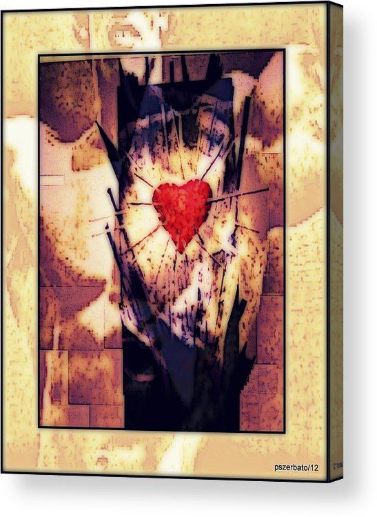 Heart Acrylic Print featuring the digital art Awareness In Potential State by Paulo Zerbato