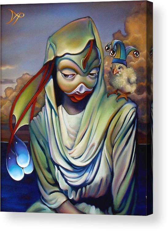 Chicken Acrylic Print featuring the painting Binky's Mistress by Patrick Anthony Pierson
