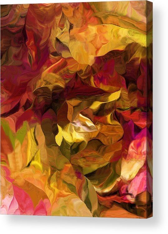 Fine Art Acrylic Print featuring the digital art Botanical Fantasy 082012 by David Lane