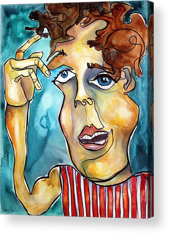 Portrait Acrylic Print featuring the painting Bucko by Darcy Lee Saxton
