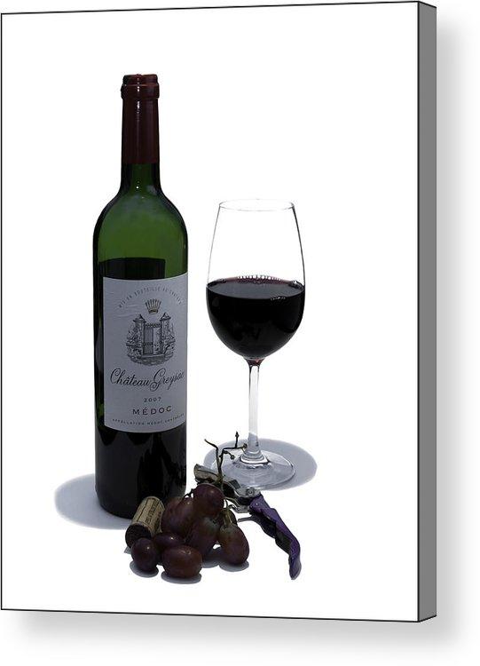 Wine Acrylic Print featuring the photograph Cheers by Nigel Jones