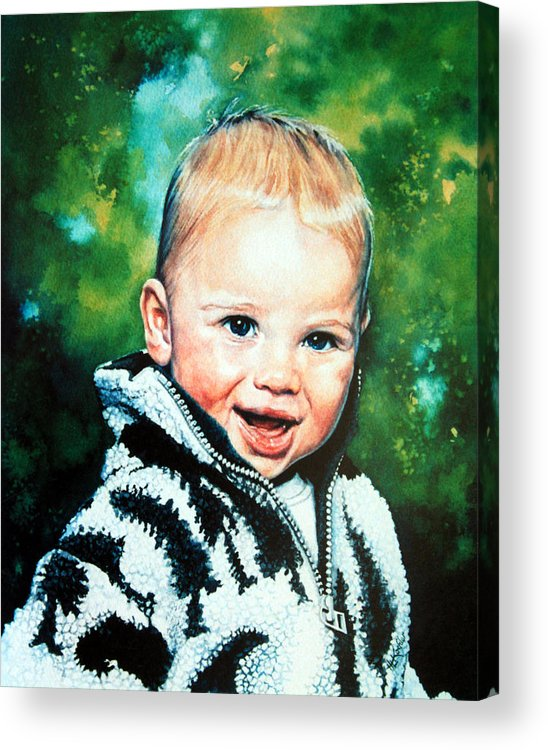 Child Portrait Acrylic Print featuring the painting Child Portrait by Hanne Lore Koehler