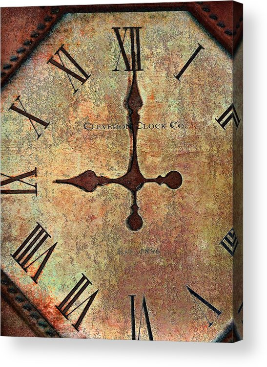 Time Acrylic Print featuring the photograph Clevedon Clock by Robert Smith
