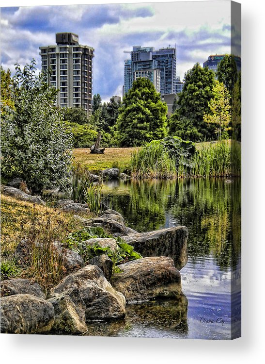 Park Acrylic Print featuring the photograph Devonian Harbour Park by Diana Cox