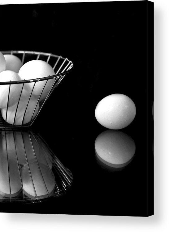 Eggs Acrylic Print featuring the photograph Eggs In Black And White by Betty Eich