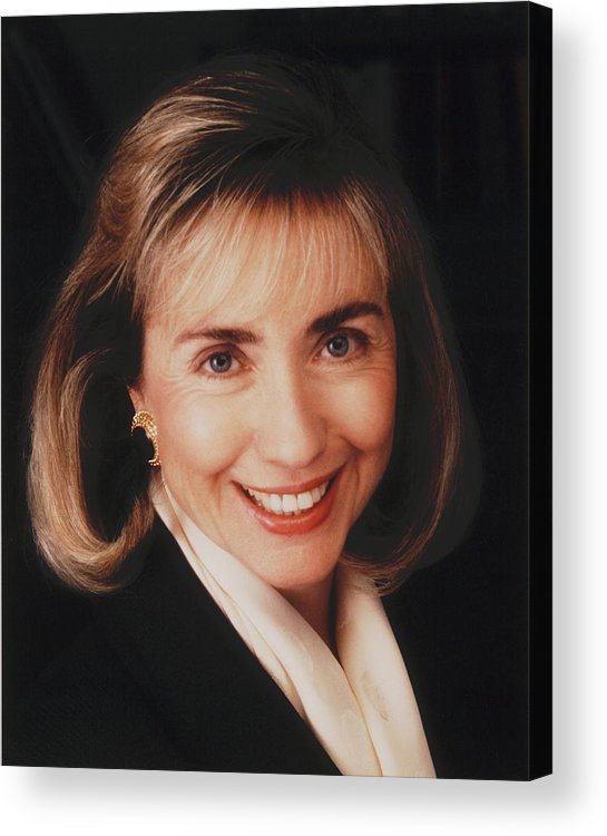 History Acrylic Print featuring the photograph First Lady Hillary Clinton In A 1992 by Everett