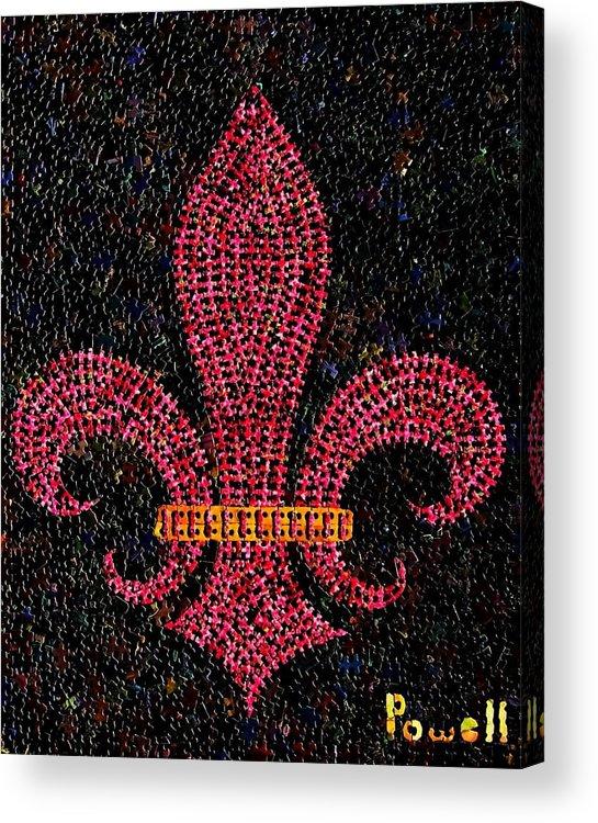 Fleur De Lis Acrylic Print featuring the mixed media Fleur De Lis by Doug Powell