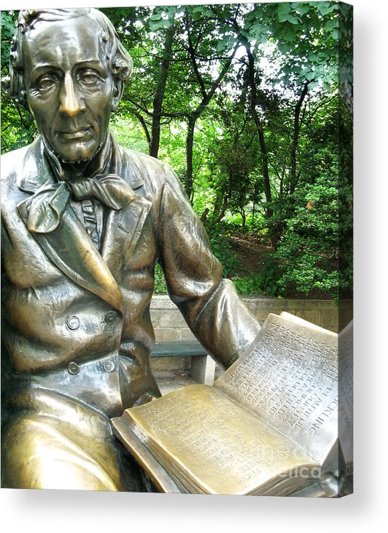 Central Park Acrylic Print featuring the photograph Hans Christian Anderson by Anne Ferguson