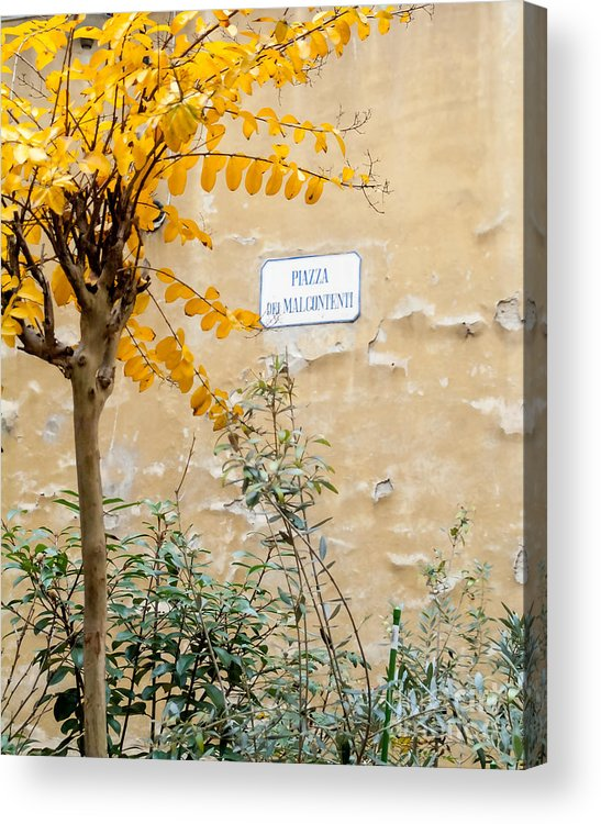 Italy Acrylic Print featuring the photograph Il Piazza Malcontenti by Michael Flood