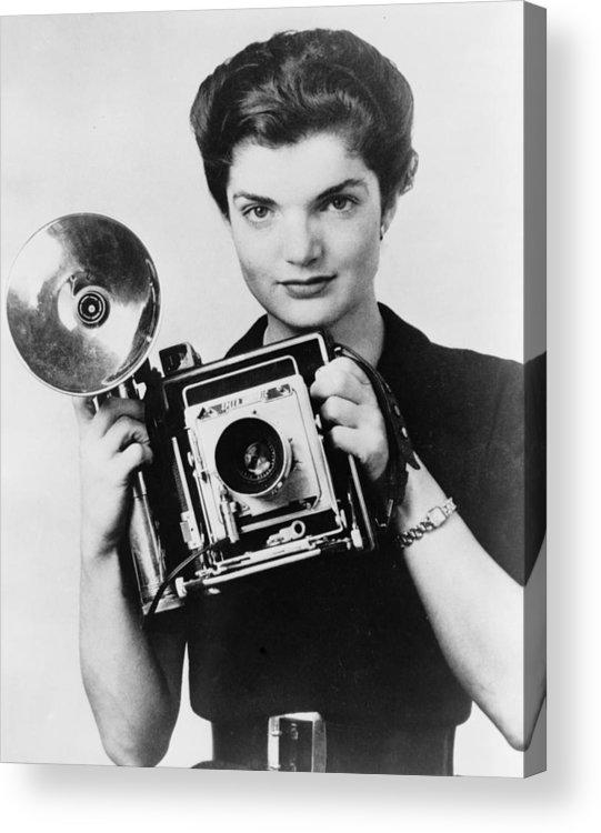 1950s Acrylic Print featuring the photograph Jacqueline Bouvier As The Inquiring by Everett