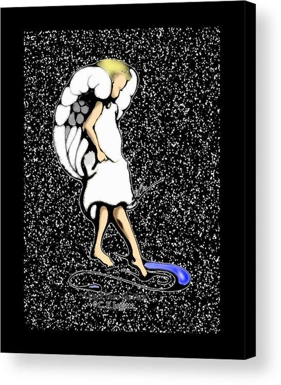Stars Acrylic Print featuring the digital art A Lamp Unto My Feet by C F Legette