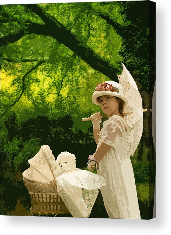 Acrylic Print featuring the photograph Little Girl Yesteryear by Trudy Wilkerson