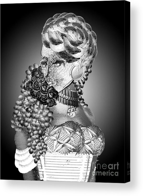 Photoshop Acrylic Print featuring the digital art Lovely Lady by Leigha Sherman