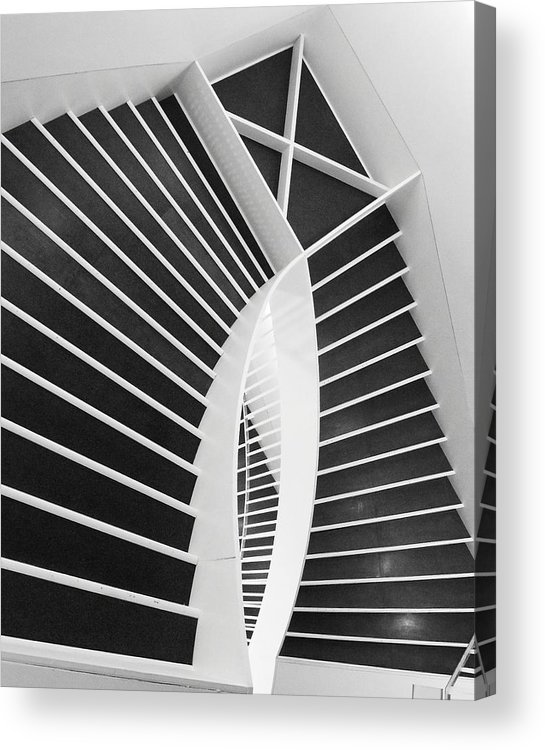 Stairs Acrylic Print featuring the photograph Meet Me Under The Stairs by Anna Villarreal Garbis
