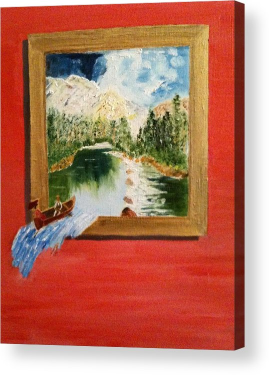 Landscape Acrylic Print featuring the painting Oops. by Colin Lederman
