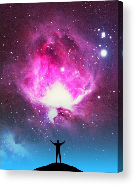 Astronomy Acrylic Print featuring the photograph Orion Nebula Awestruck by Larry Landolfi