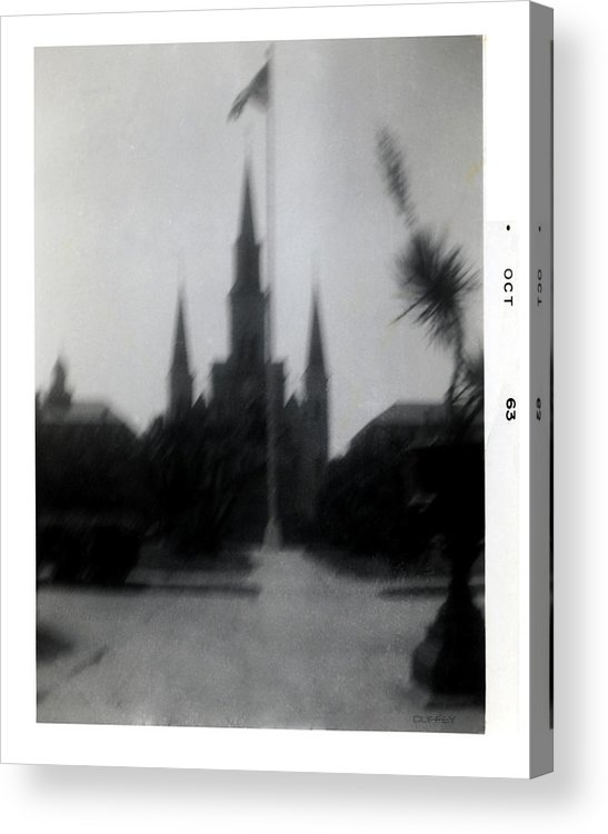Louisiana Acrylic Print featuring the photograph Saint Louis Cathedral October 1963 by Doug Duffey